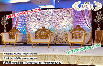 Expectional Wedding Leather Tufted Panels