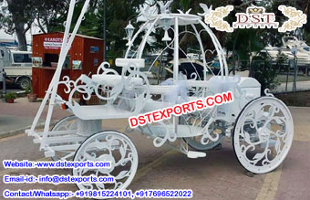 White Cinderella Horse Carriage USA