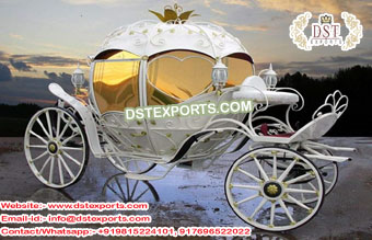 Cinderella Pumkin White Wedding  Carriage