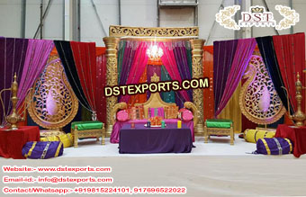 Asian Muslim Sangeet Night Decoration Set