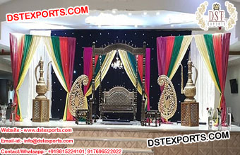 Muslim Henna Theme Stage Jhulas Decoration