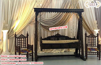 Bollywood Wedding Wooden Swing Setup