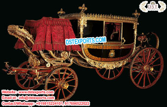 Vintage Style Horse-Drawn Carriage