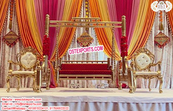 Wedding Sangeet Stage Sankheda Swing