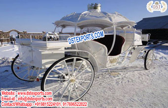 White Beauty Queen Cinderella Horse Carriage