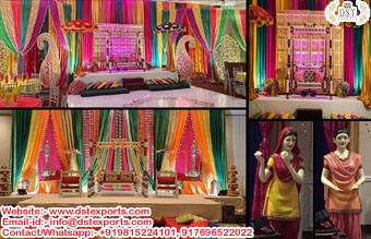 Indian Wedding Sangeet Stage Props