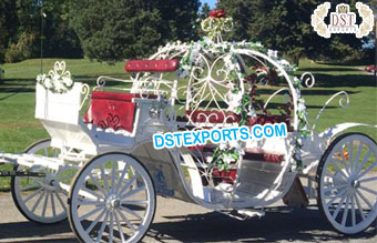 Royal White Princess Horse Drawn Carriage