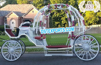 Exclusive White Cinderella Princess Carriage