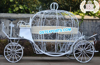 Beautiful Wedding Pumpkin Cinderella Horse Buggy