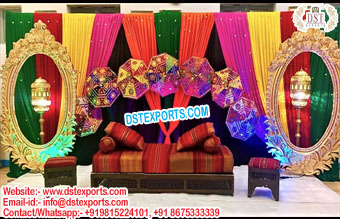 Muslim Walima Sangeet Stage Decoration Props