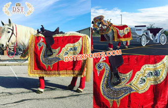 Wedding Horse Costume with Peacock Design