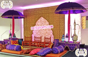 Vibrant Mehndi and Sangeet Event Decorations