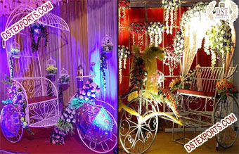 Wedding Photobooth Rickshaw Cycle For Couple Entry