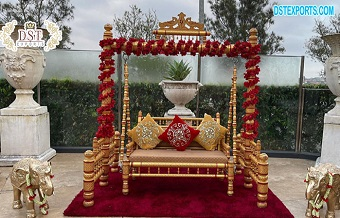 Wedding Stage Golden Sankheda Swing
