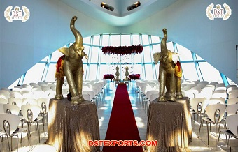 Royal Wedding Elephant Statues For Decoration